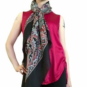 Vince Red Silk Sleeveless Blouse - XS/S